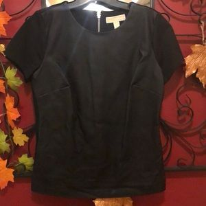 Michael Kors faux black leather top